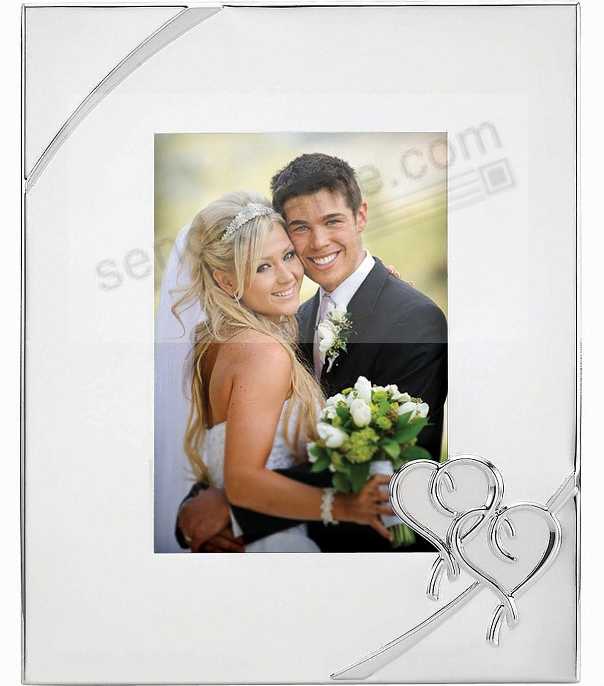 Picture frames photo albums personalized and engraved digital true love silverplate 5x7 by lenoxreg silver jeuxipadfo Images