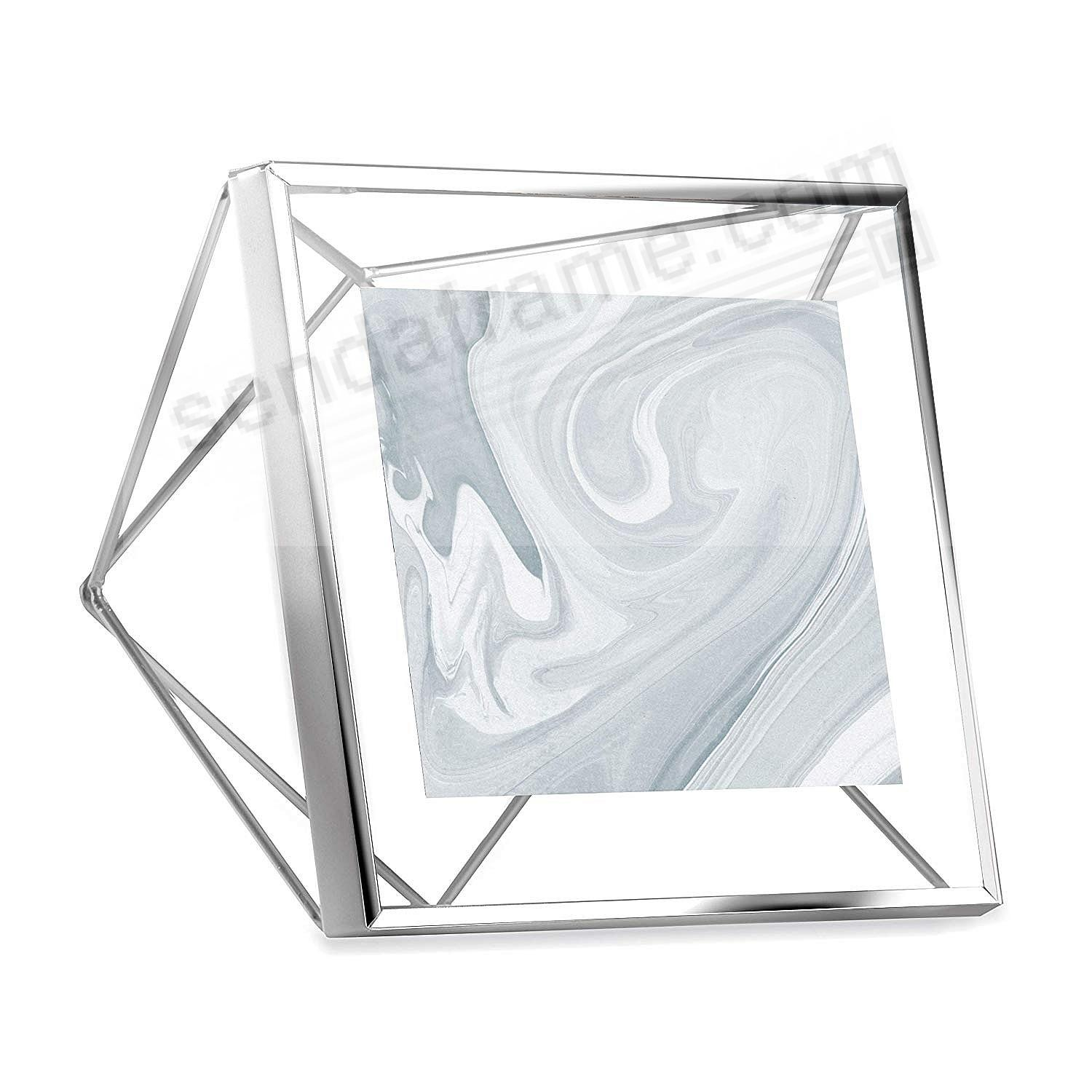 The Original PRISMA Photo Display Chrome 4x4 frame by Umbra®