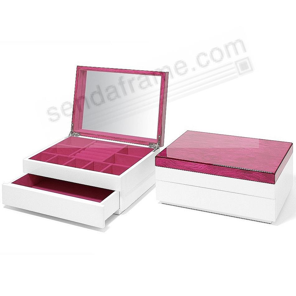The Original AURA 1-Drawer JEWELRY BOX (Med) Magenta Lacquer by Swing Design®