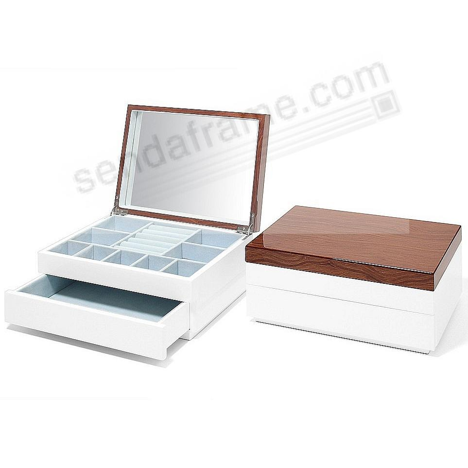 The Original AURA 1-Drawer JEWELRY BOX (Med) Walnut Lacquer by Swing Design®