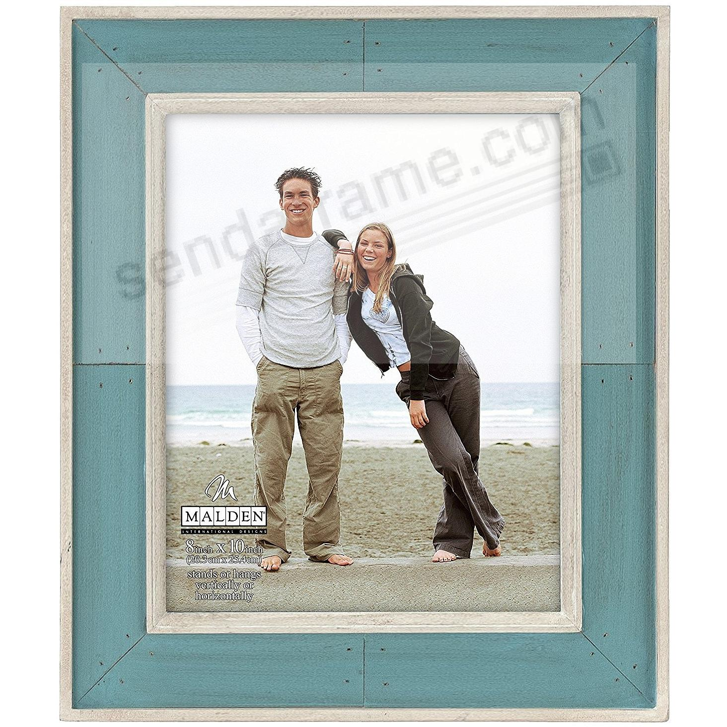 SUNWASHED COASTAL TURQUOISE Weathered Wood 8x10 frame by Malden®