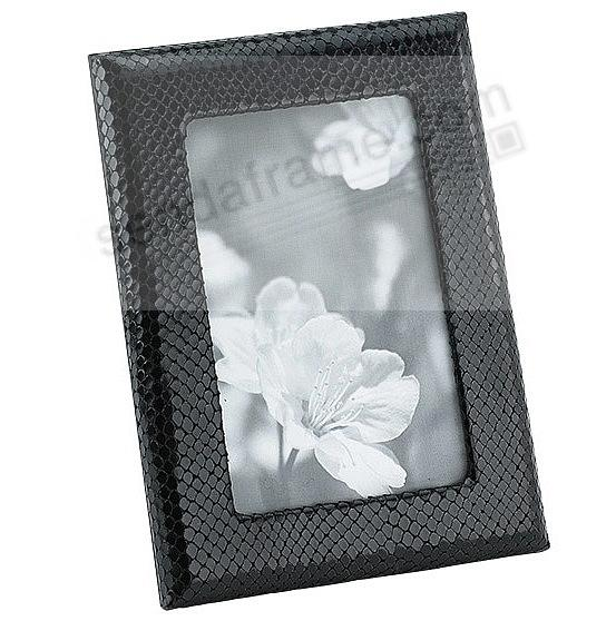 Black Embossed Python Leather STUDIO Frame<br>by Graphic Image™