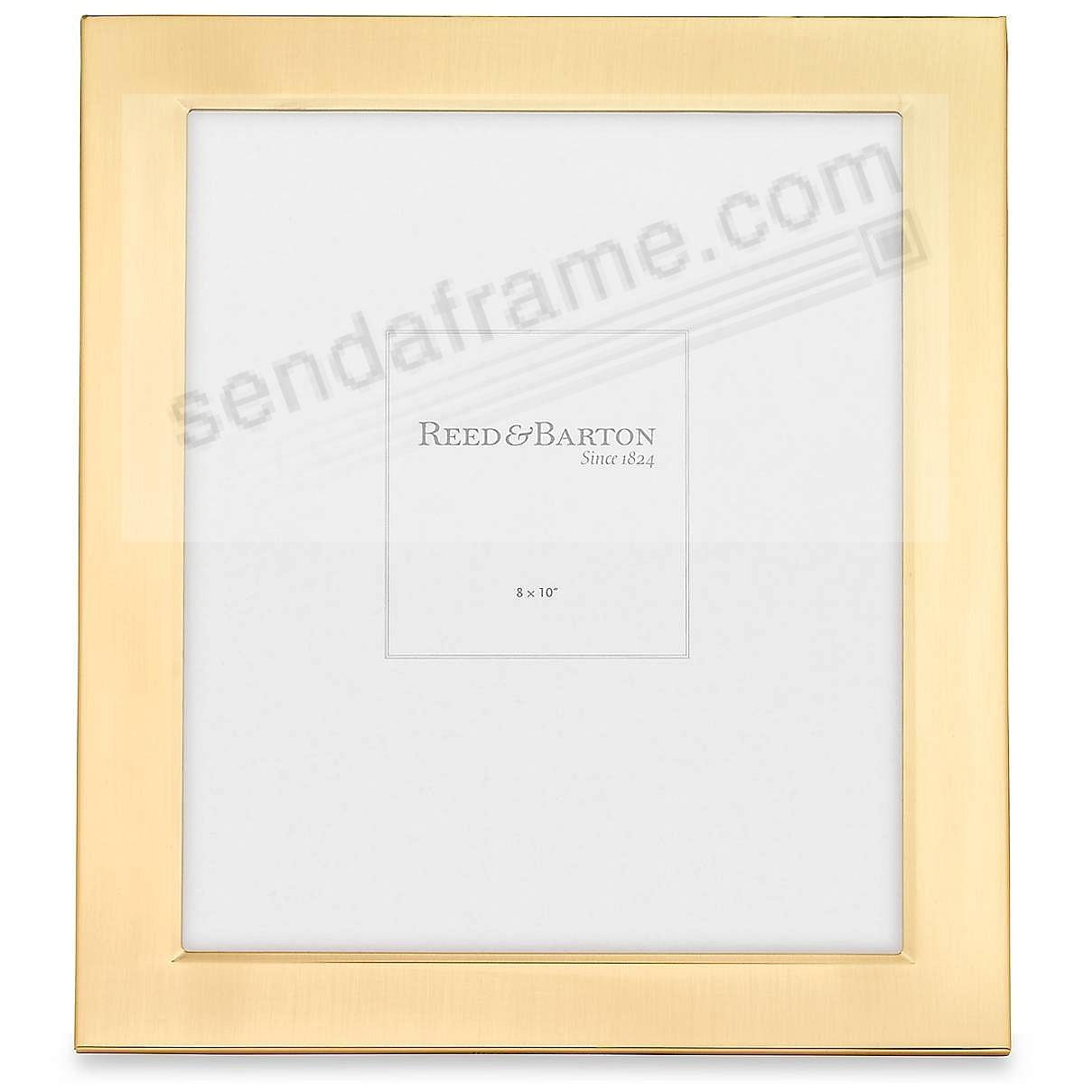 Reed & Barton® CLASSIC SATIN GOLD 8x10 engraveable frame