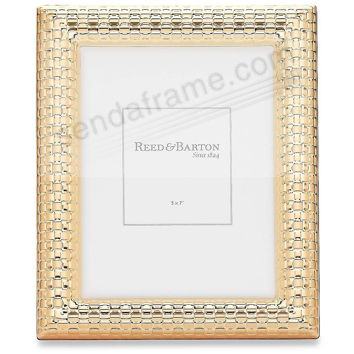 watchband satin gold 5x7 frame by reed barton