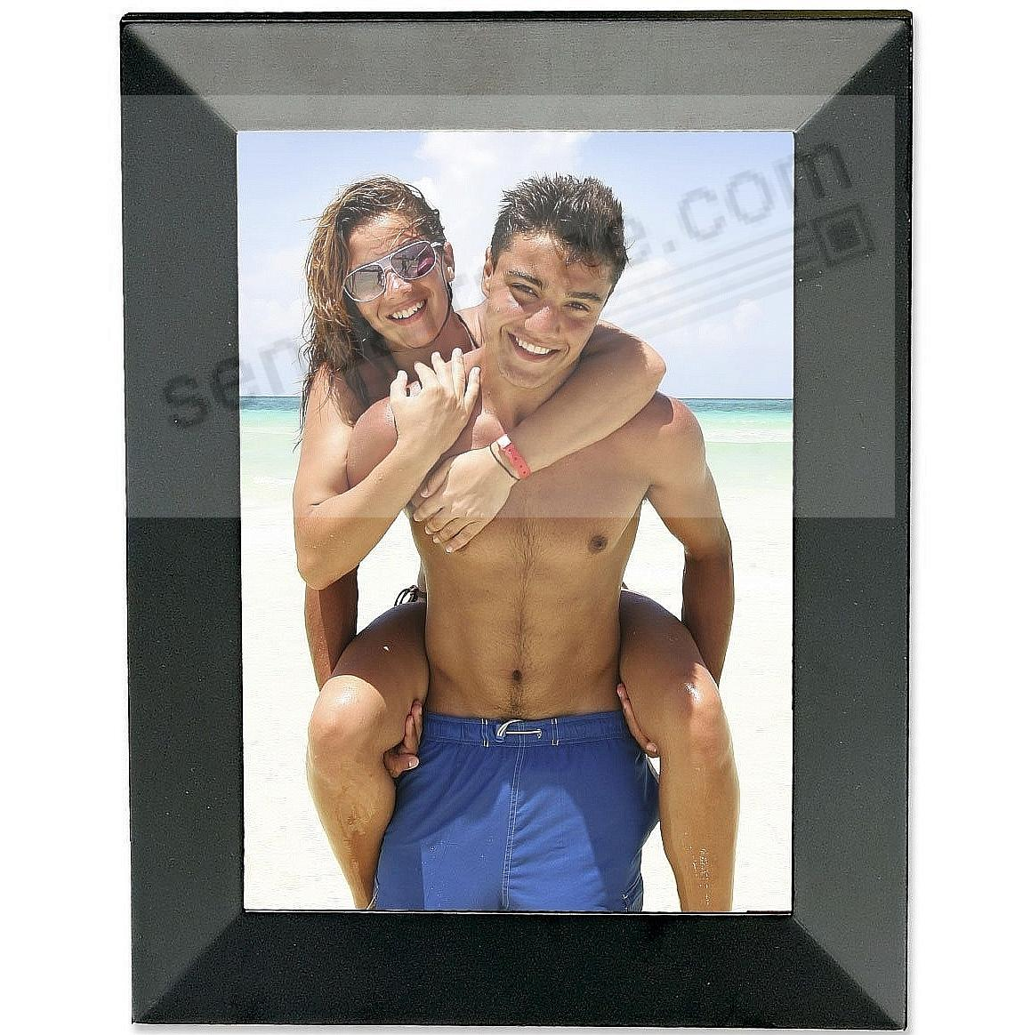 Black Angled Wood 5x7 frame by Lawrence®