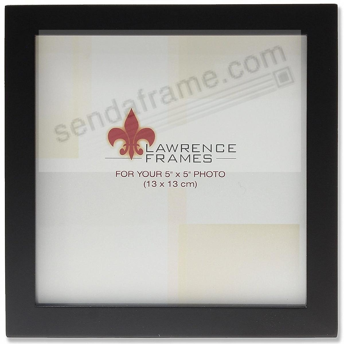 Square-corner & flat classic black 5x5 from Lawrence®