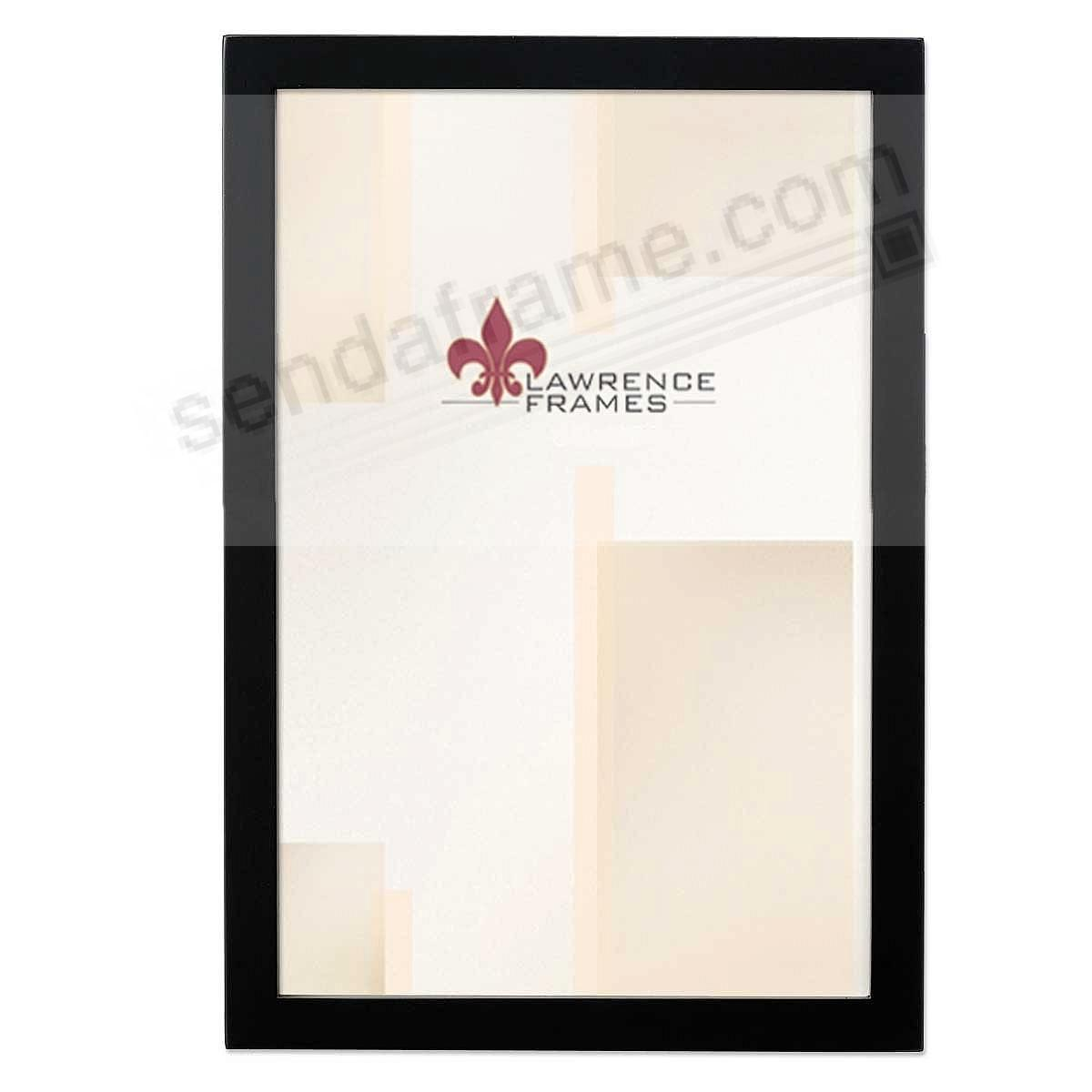 Black Square-Corner wood 8x12 frame by Lawrence®
