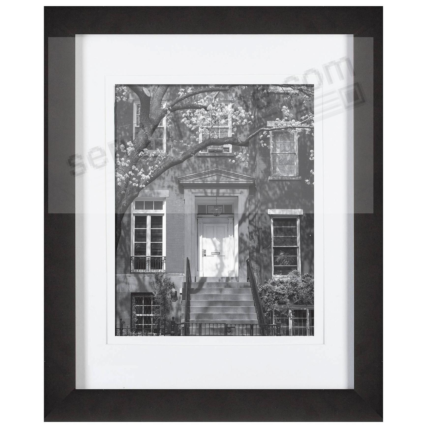 Black Wood Wall Frame 11x14 matted to 8x10 by Gallery Solutions™