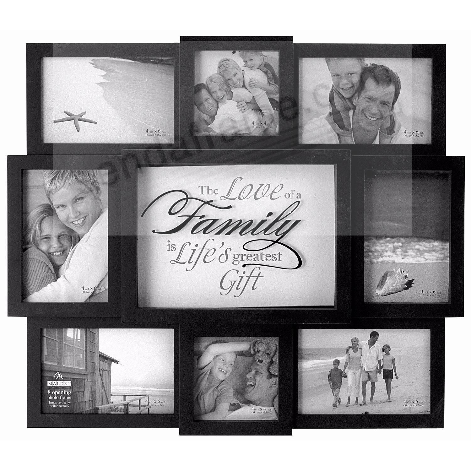 Picture frames photo albums personalized and engraved digital the love of a family 8photo wall sculpture by maldenreg jeuxipadfo Gallery