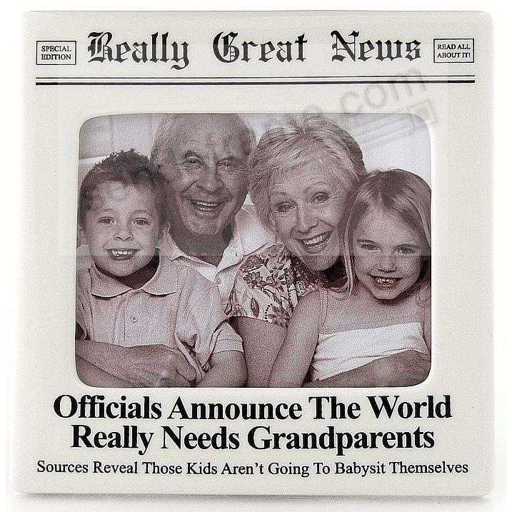 WORLD NEEDS GRANDPARENTS FRAME<br>by Really Great News® - Picture ...