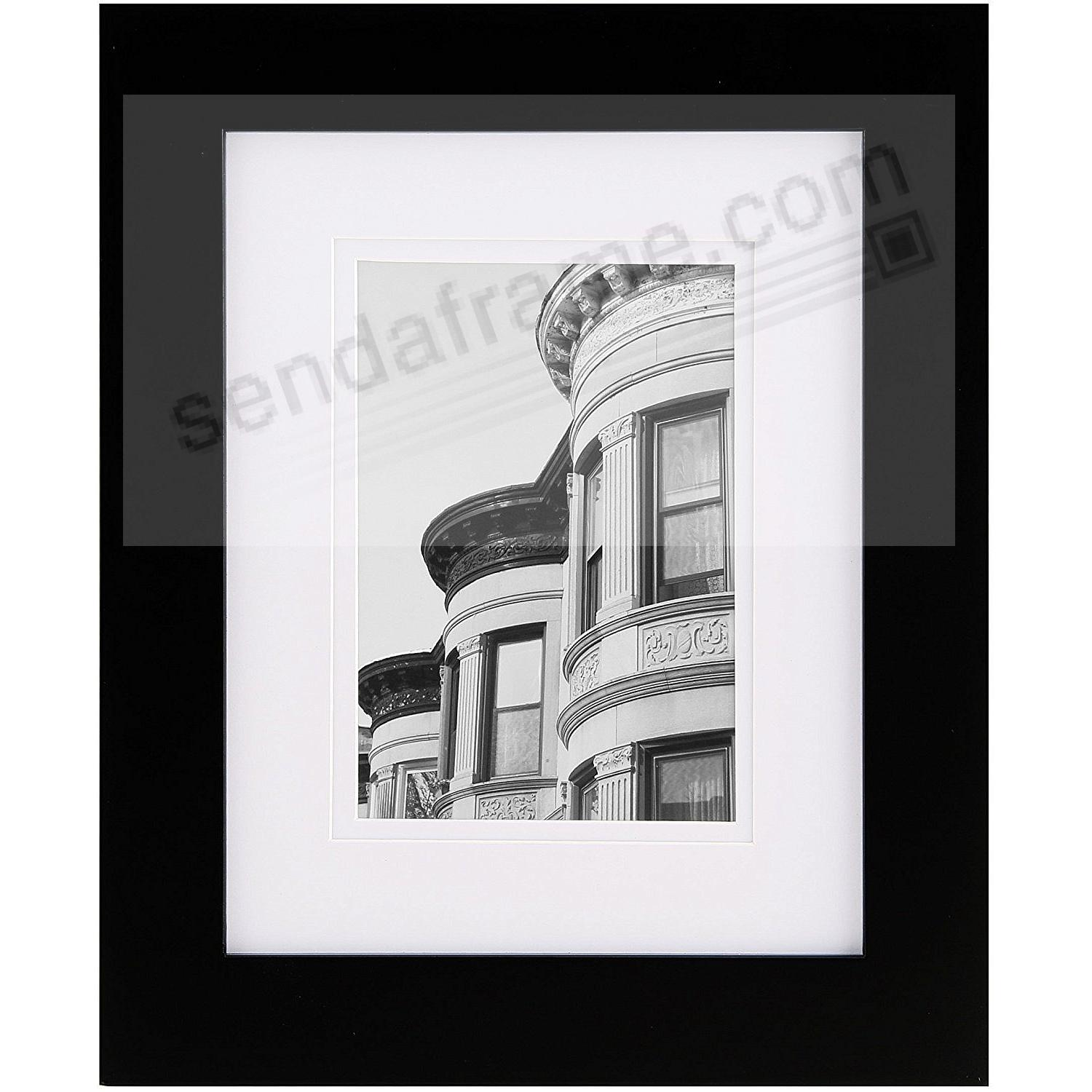 Black Wood Wall Frame Matted 8x10/5x7 by Gallery Solutions ...