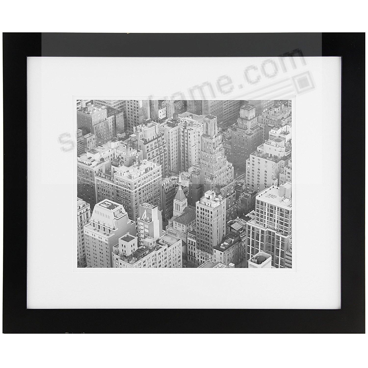Black Wood Wall Frame matted 16x20/11x14 by Gallery Solutions™