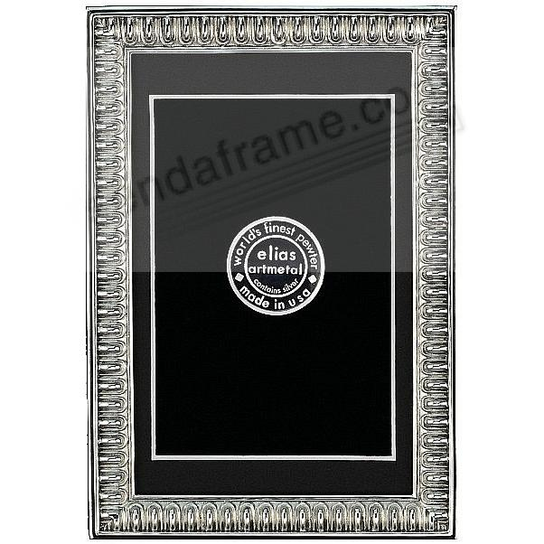 SPARTAN SHIELD Repeating Bar Border Fine Pewter 5x7/4x6 frame by Elias Artmetal®