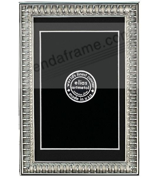 SPARTAN SHIELD Repeating Bar Border 4x6/3½x5½ frame by Elias Artmetal®
