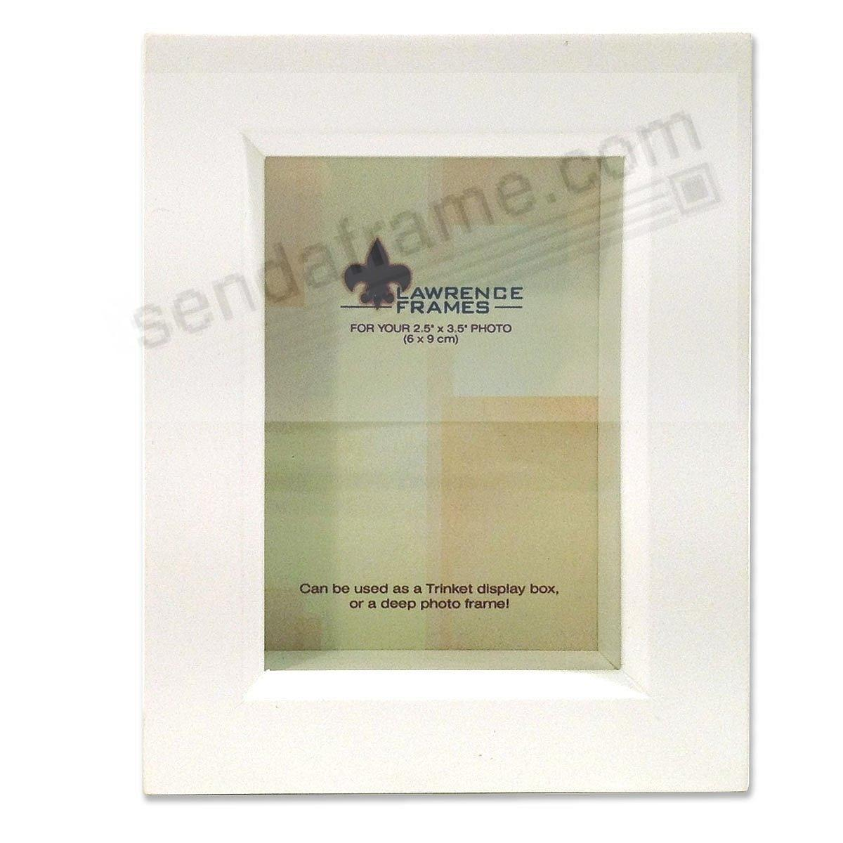 White Trinket Box 2½x3½ frame ¾-inch depth by Lawrence® - Picture ...