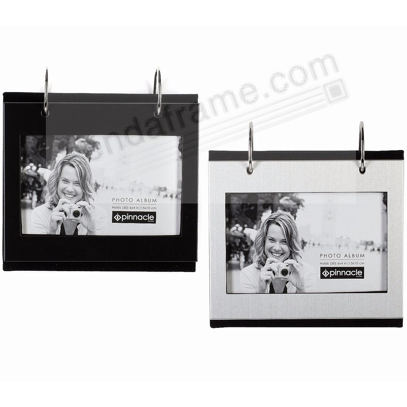 1-Black + 1-Silver Flip-its® tabletop album each holds 50 - 4x6 prints by PINNACLE®