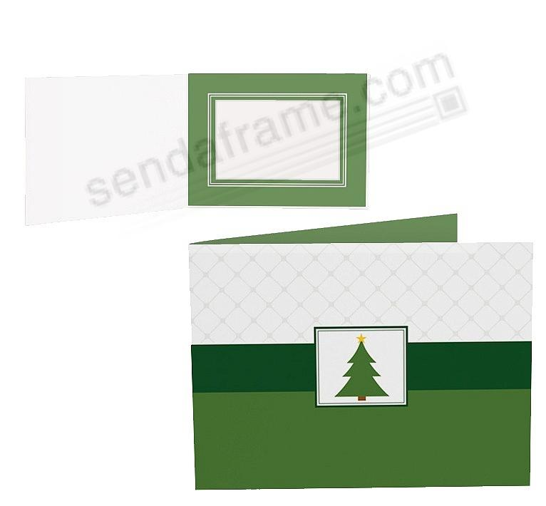 CHRISTMAS TREE Holiday Photo Folder for 7x5 (landscape) prints