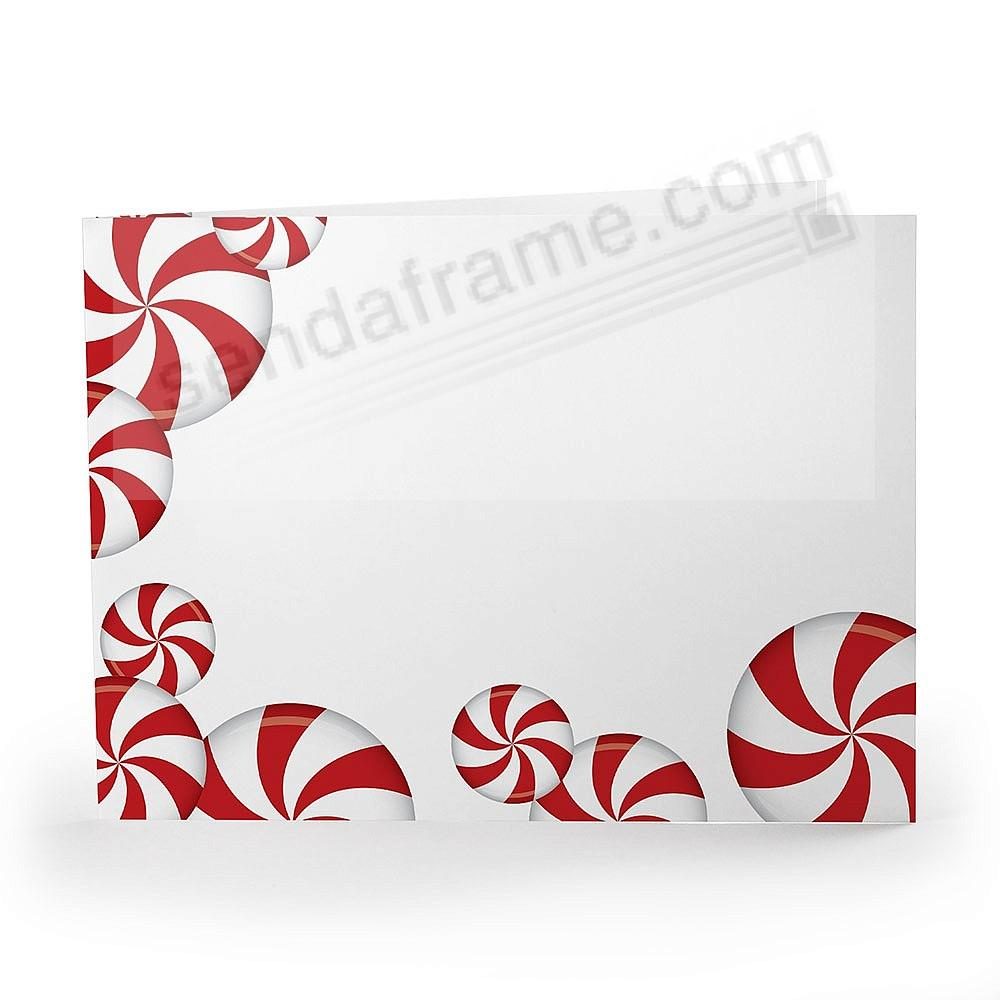 PEPPERMINT CANDY Holiday Photo Folder for 7x5 (landscape) prints (sold in 25's)