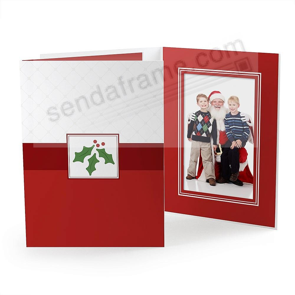 HOLIDAY HOLLY Photo Folder for 4x6 (portrait) prints