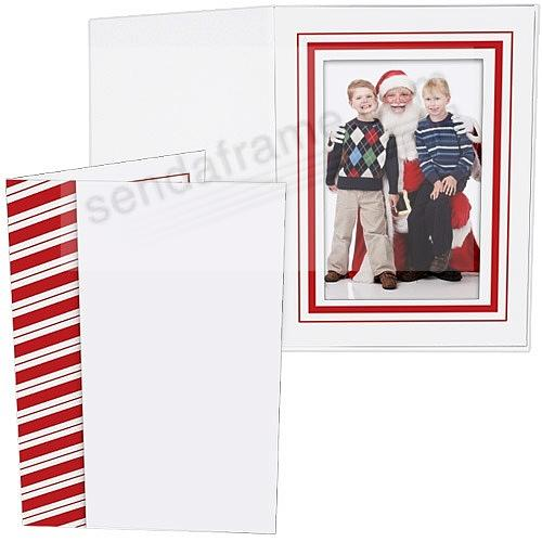 CANDY CANE Holiday Photo Folder for 5x7 (portrait) prints