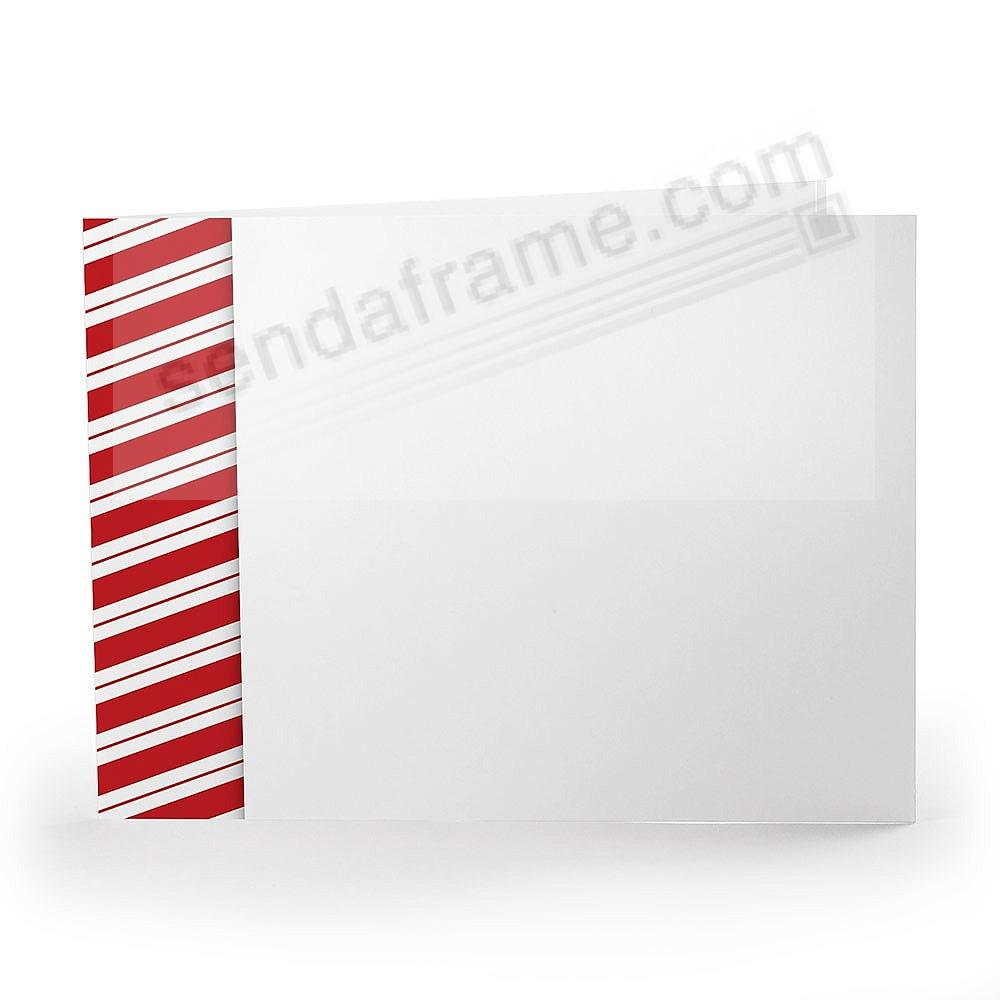 CANDY CANE Holiday Photo Folder for 6x4 (landscape) prints