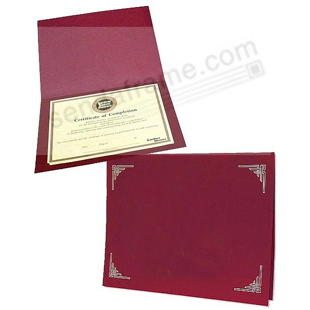 Burgundy Certificate Folders for 8x10 or 8½x11 Inserts (sold in 25s ...
