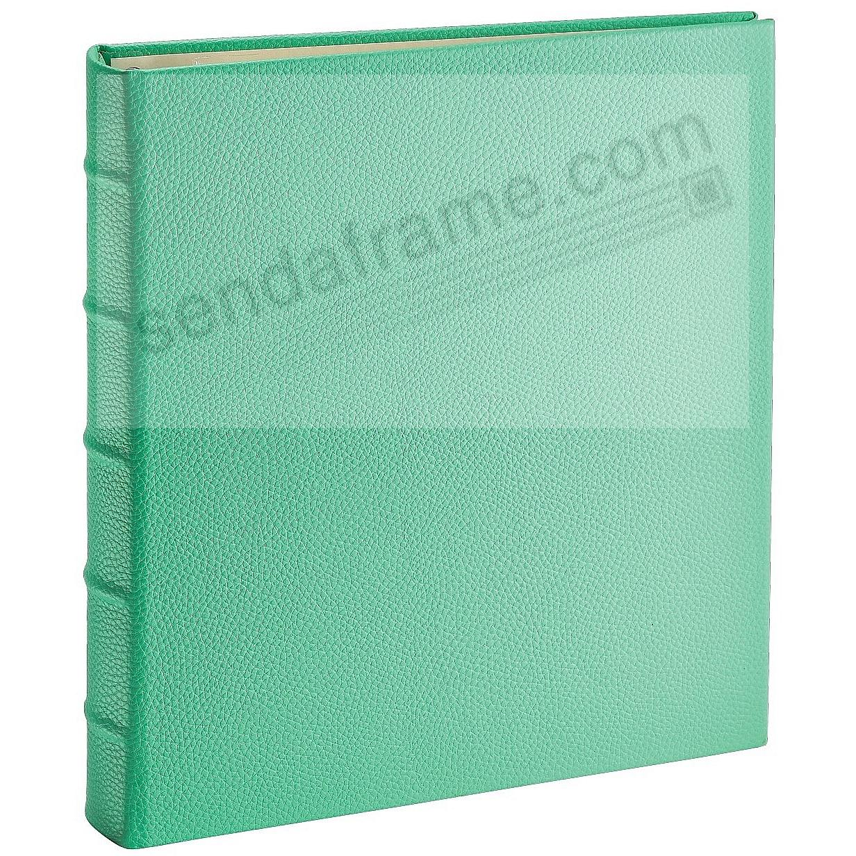 Post Impressions™ System standard 3-Ring Pebble-Grain Emerald Eco-Leather binder (unfilled)