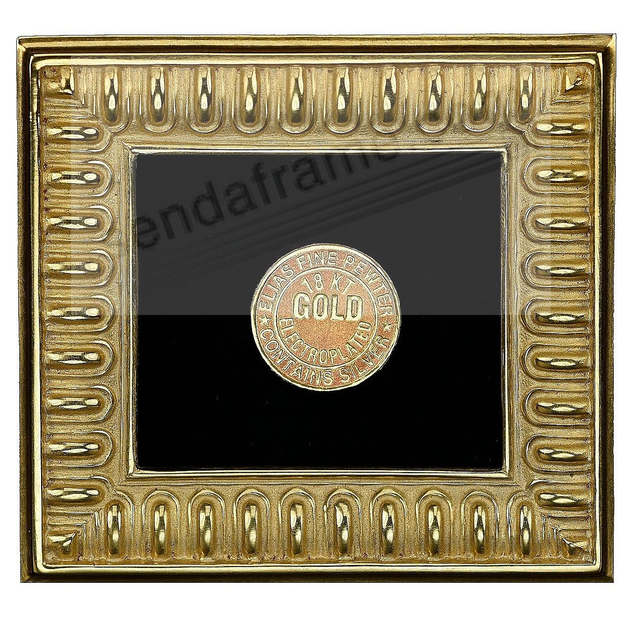 SPARTAN SHIELD 18kt Gold Vermeil over Fine Pewter 1¾x2-3/8 frame by Elias Artmetal®