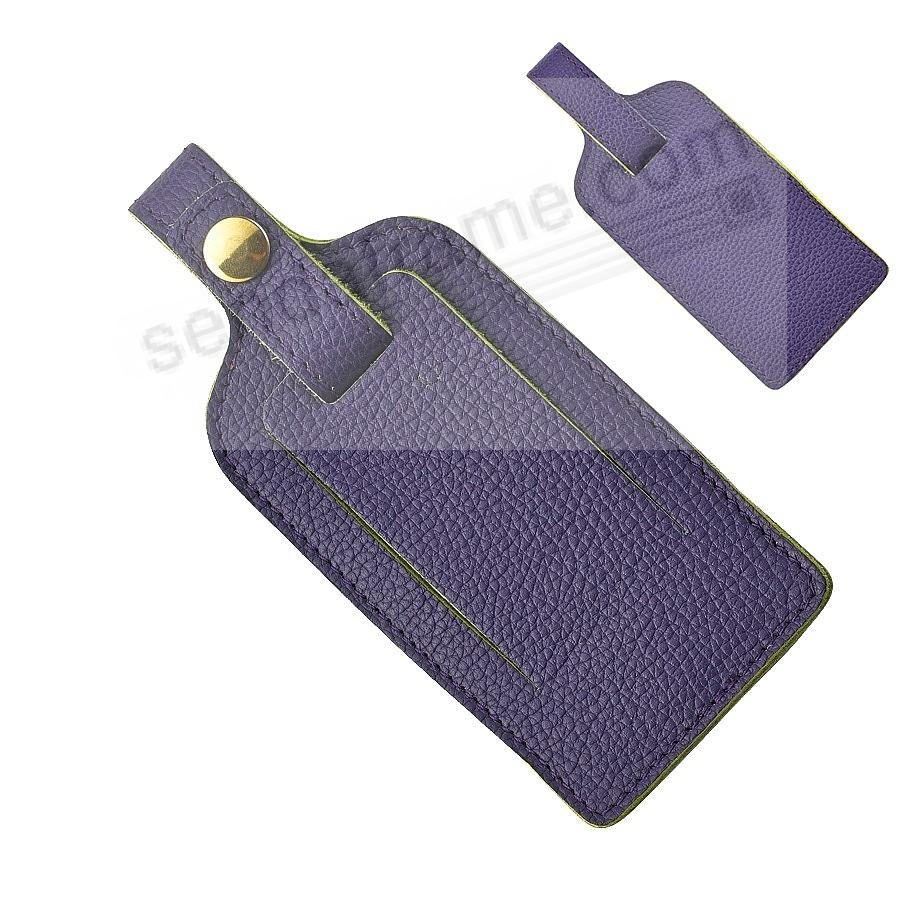 Purple LUGGAGE TAG Full-Grain Leather by Graphic Image®