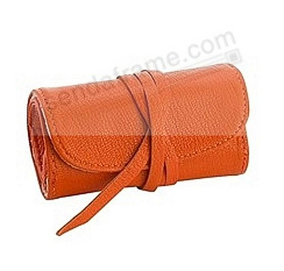 BRIGHTS ORANGE Fine Leather Jewel Roll by Graphic Image™
