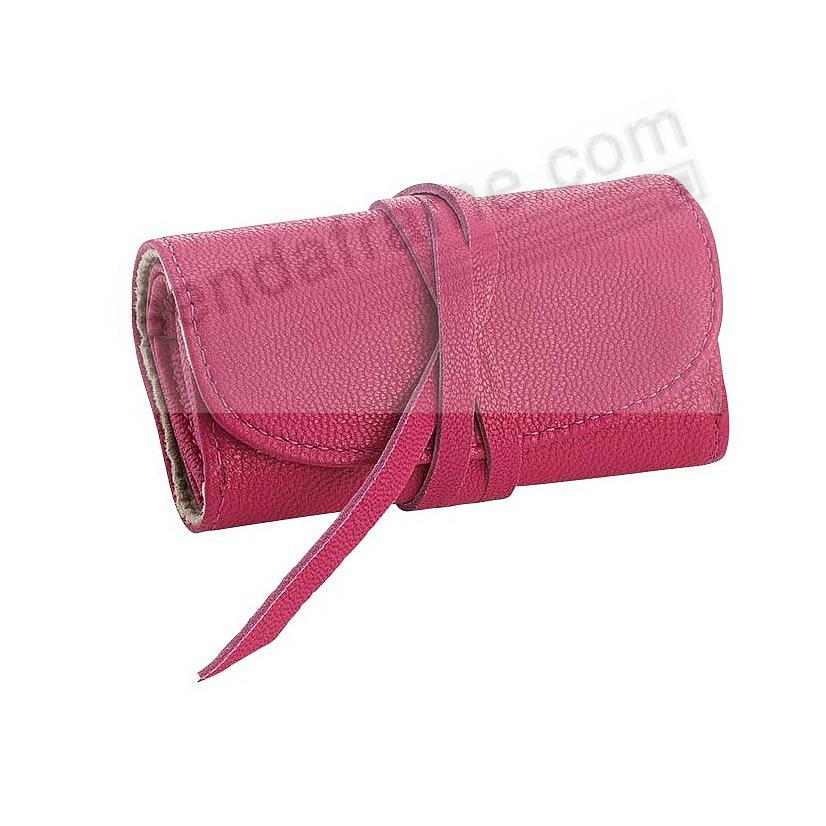 BRIGHTS PINK Fine Leather Jewel Roll by Graphic Image™