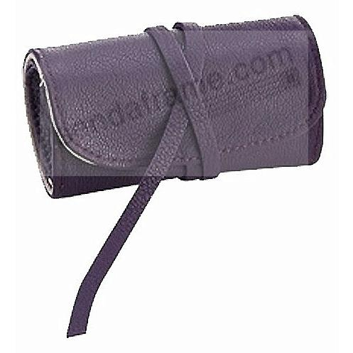 BRIGHTS PURPLE Fine Leather Jewel Roll by Graphic Image™