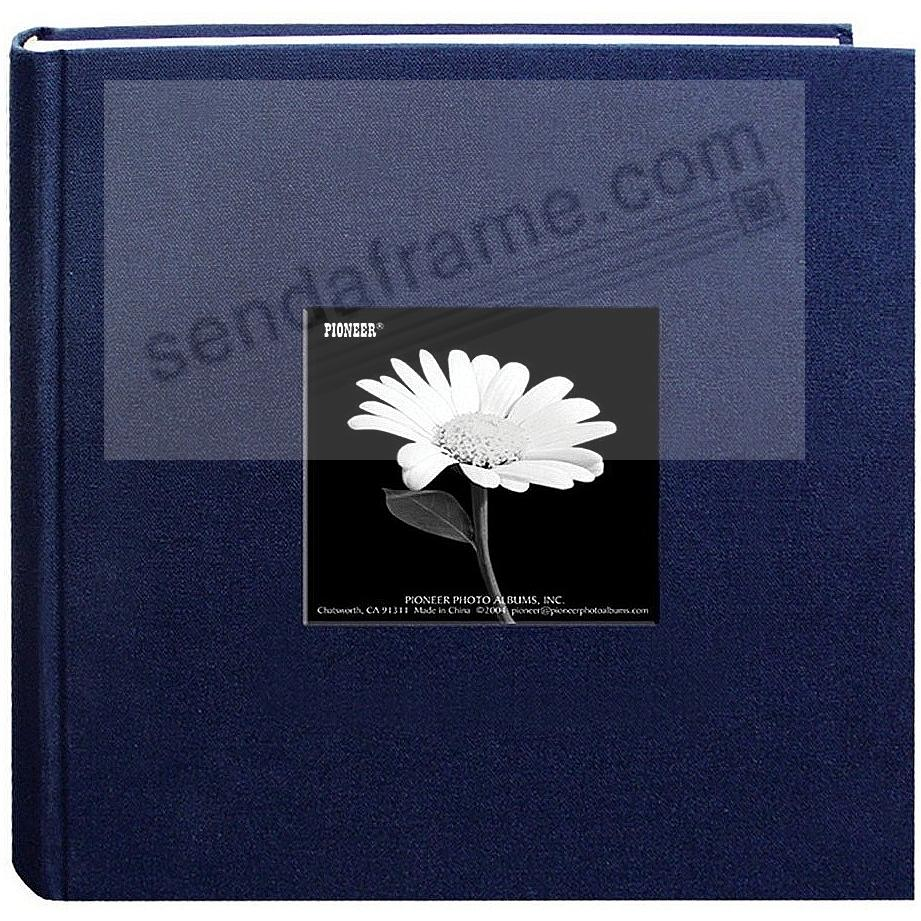 REGAL NAVY cloth 2-up frame photo album by Pioneer®