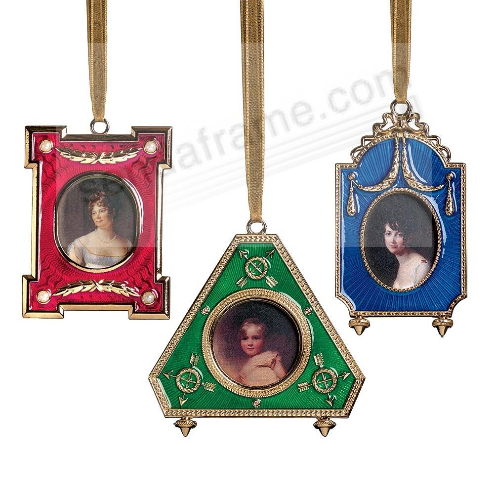 Picture frame christmas ornaments - Russian Imperial Frame Christmas Ornaments From The Metropolitan Museum Of Art Set Of 3