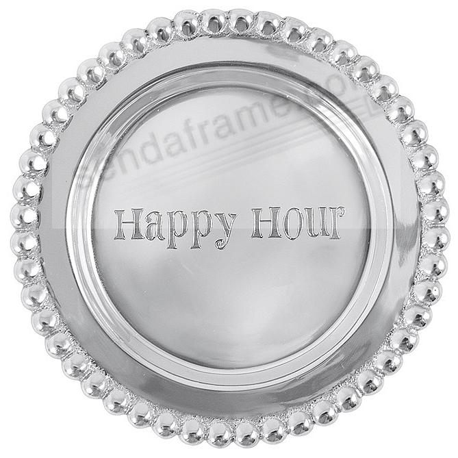 HAPPY HOUR BEADED WINE PLATE crafted by Mariposa®