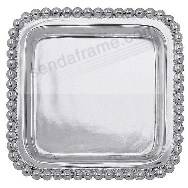 The original BEADED SQUARE 4x4 TRAY crafted by Mariposa® - Engraveable!
