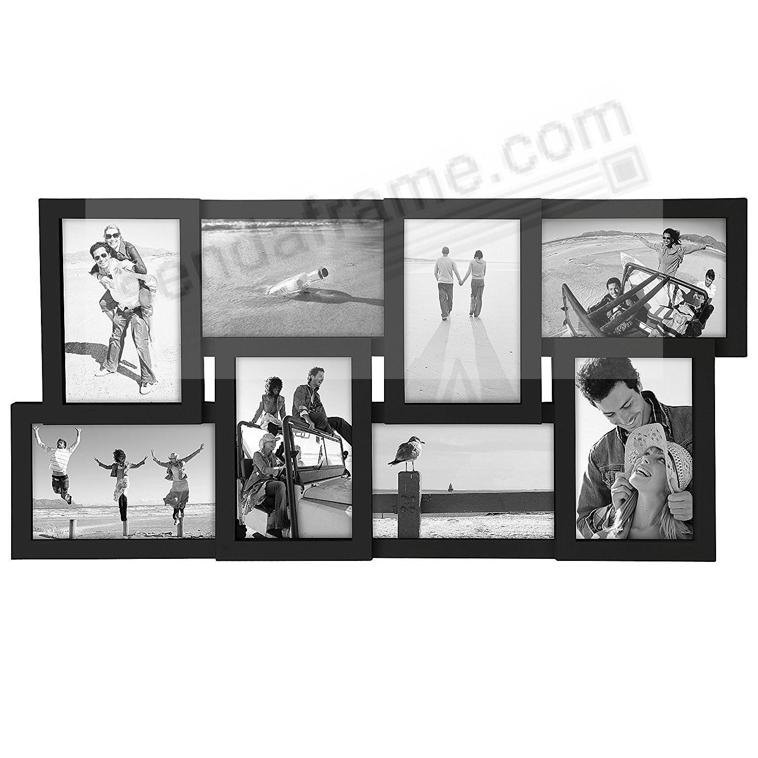Black PUZZLE 8-Opening collage frame by Malden® - Picture Frames ...