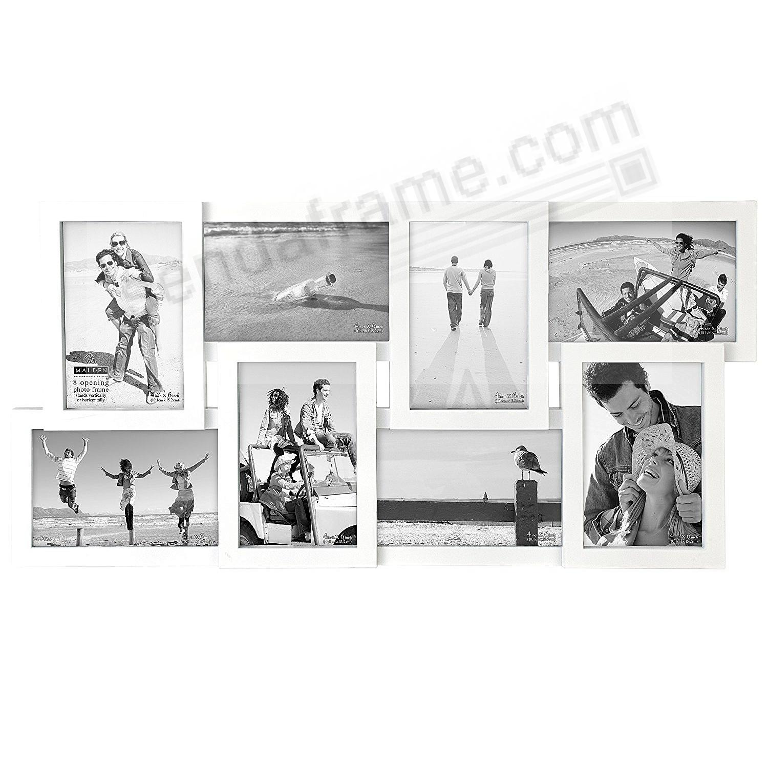 White PUZZLE 8 multi-opening collage frame by Malden® - Picture ...