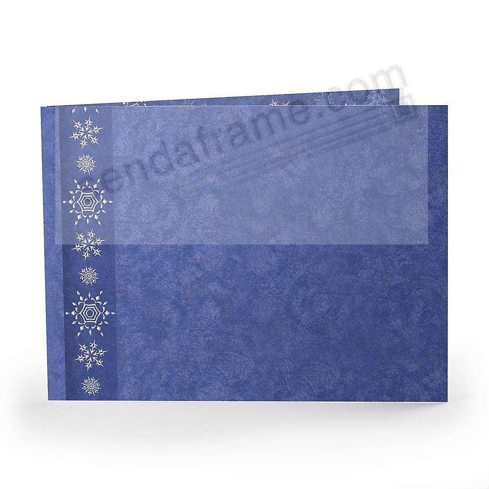 SNOWFLAKES Holiday Event 7x5 Landscape Photo cardstock Folder