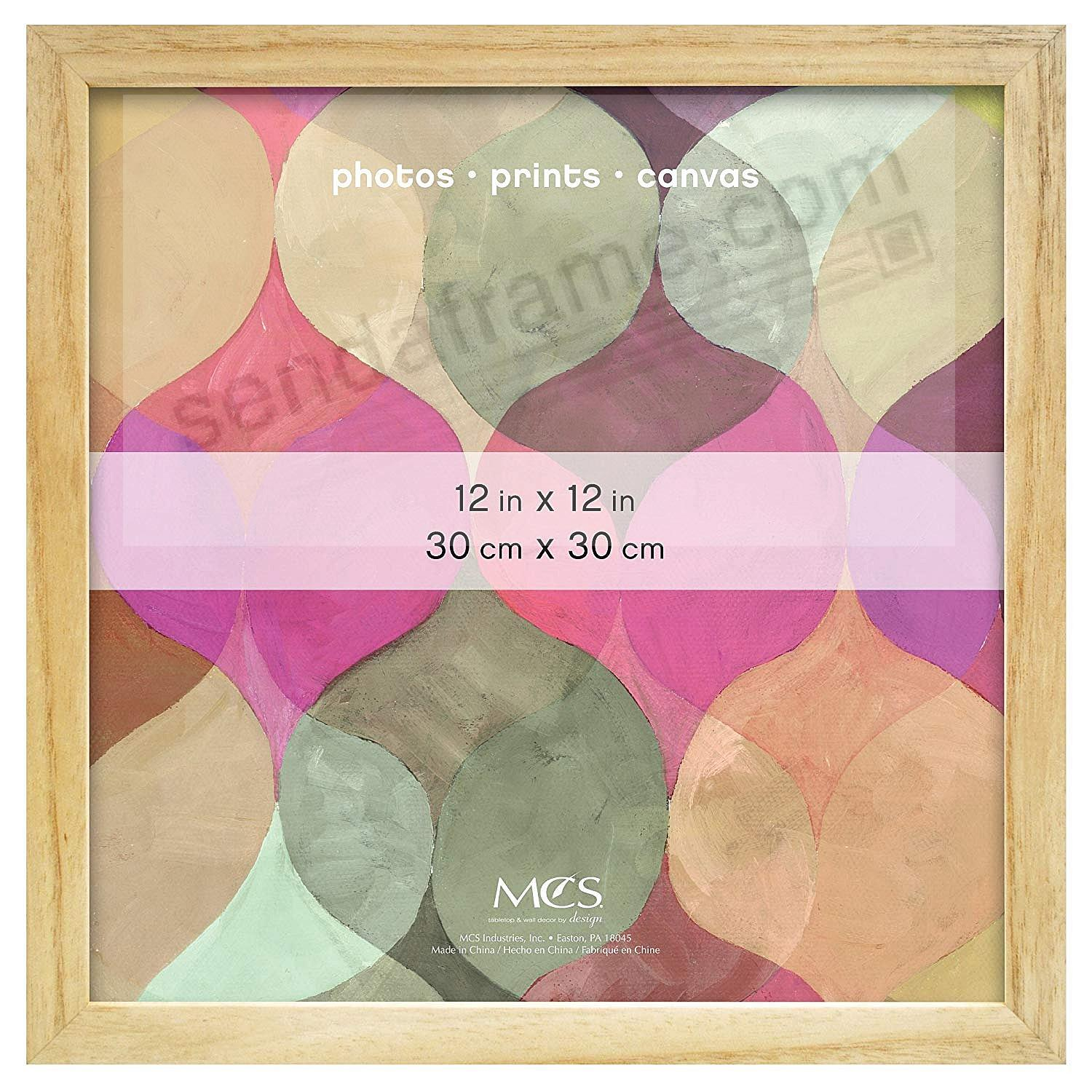 Art Shadow-Box 1-3/8in depth Natural Wood 12x12 frame by MCS®