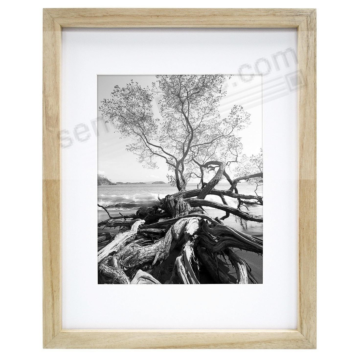 art shadow box 8x10 5x7 natural wood frame by mcs picture frames