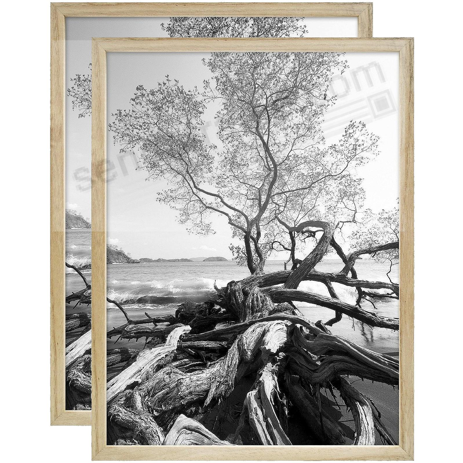 Art Shadow-Box 24x30 Natural Wood frame by MCS® - 2 Pack
