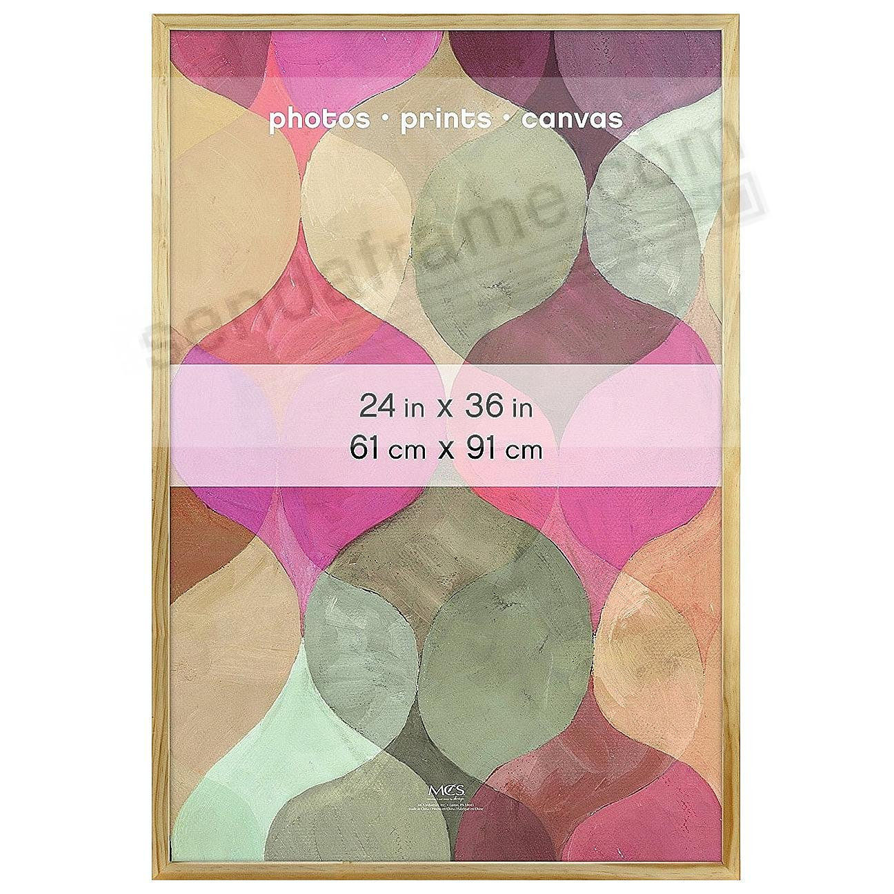 Art Shadow-Box 24x36 Natural Wood frame by MCS® - 2 Pack