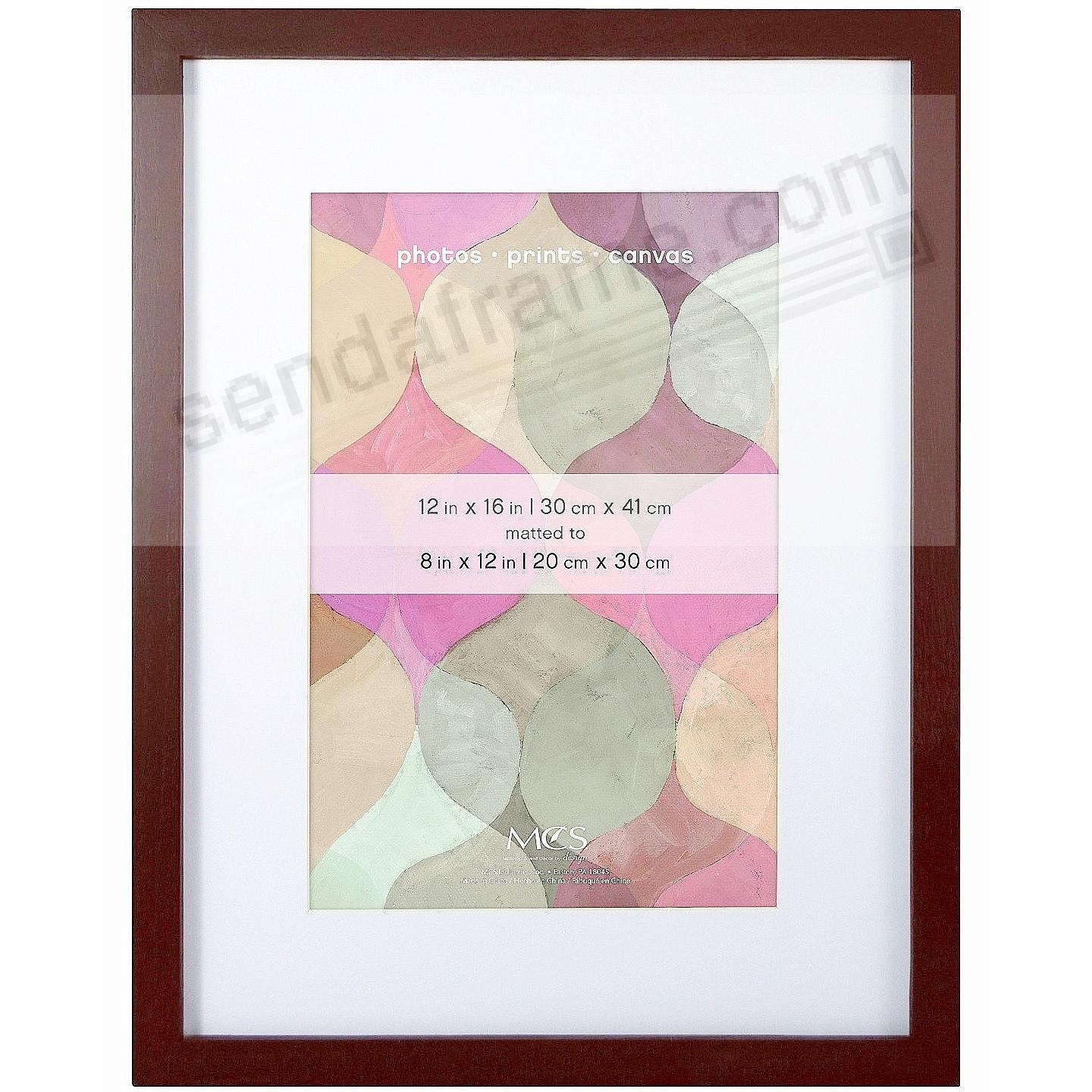 art shadow box 12x168x12 walnut wood frame by mcs