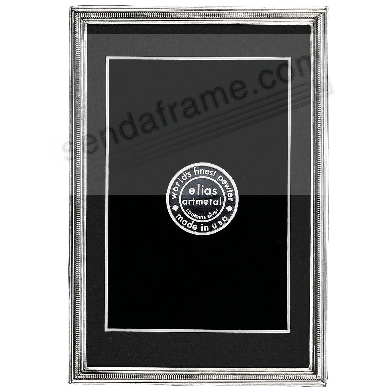 The ZIPPER Fine Silvered Pewter frame 4x6/3½x5½ by Elias Artmetal®