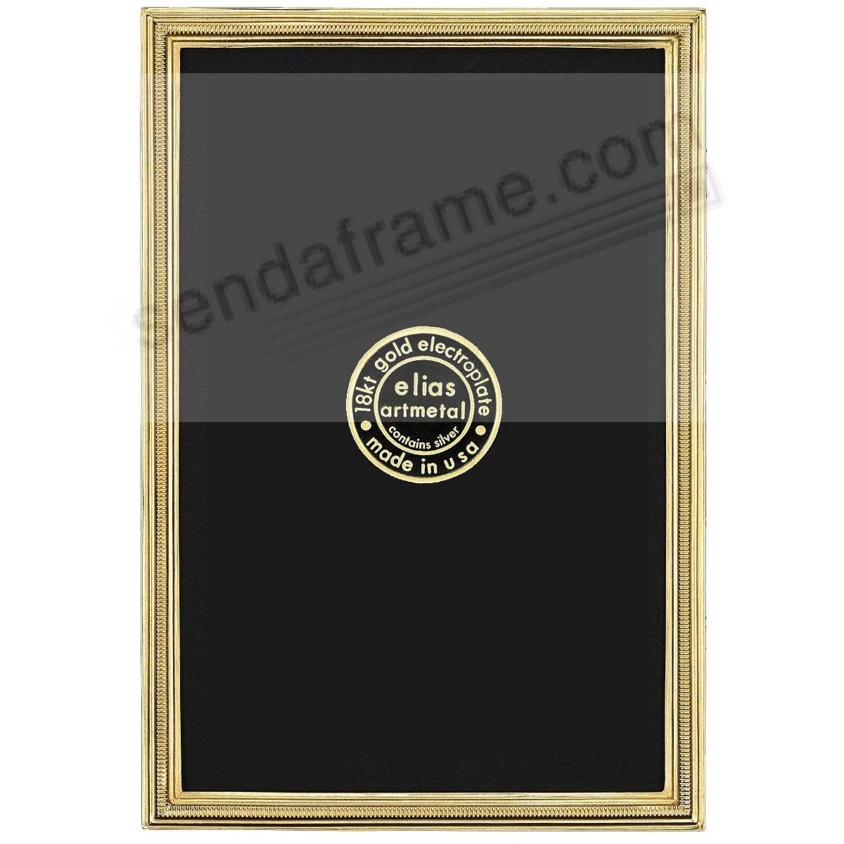 New ZIPPER 18kt Museum Gold Vermeil Mini frame 2½x3½ by Elias Artmetal®