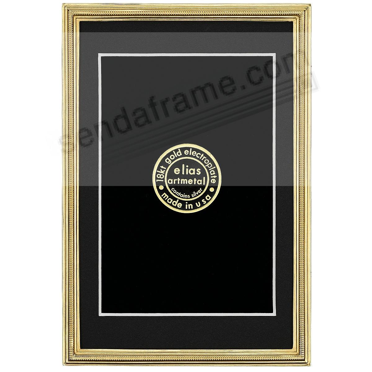 ZIPPER Fine 18kt Museum Gold over Pewter frame 5x7/4x6 by Elias Artmetal®