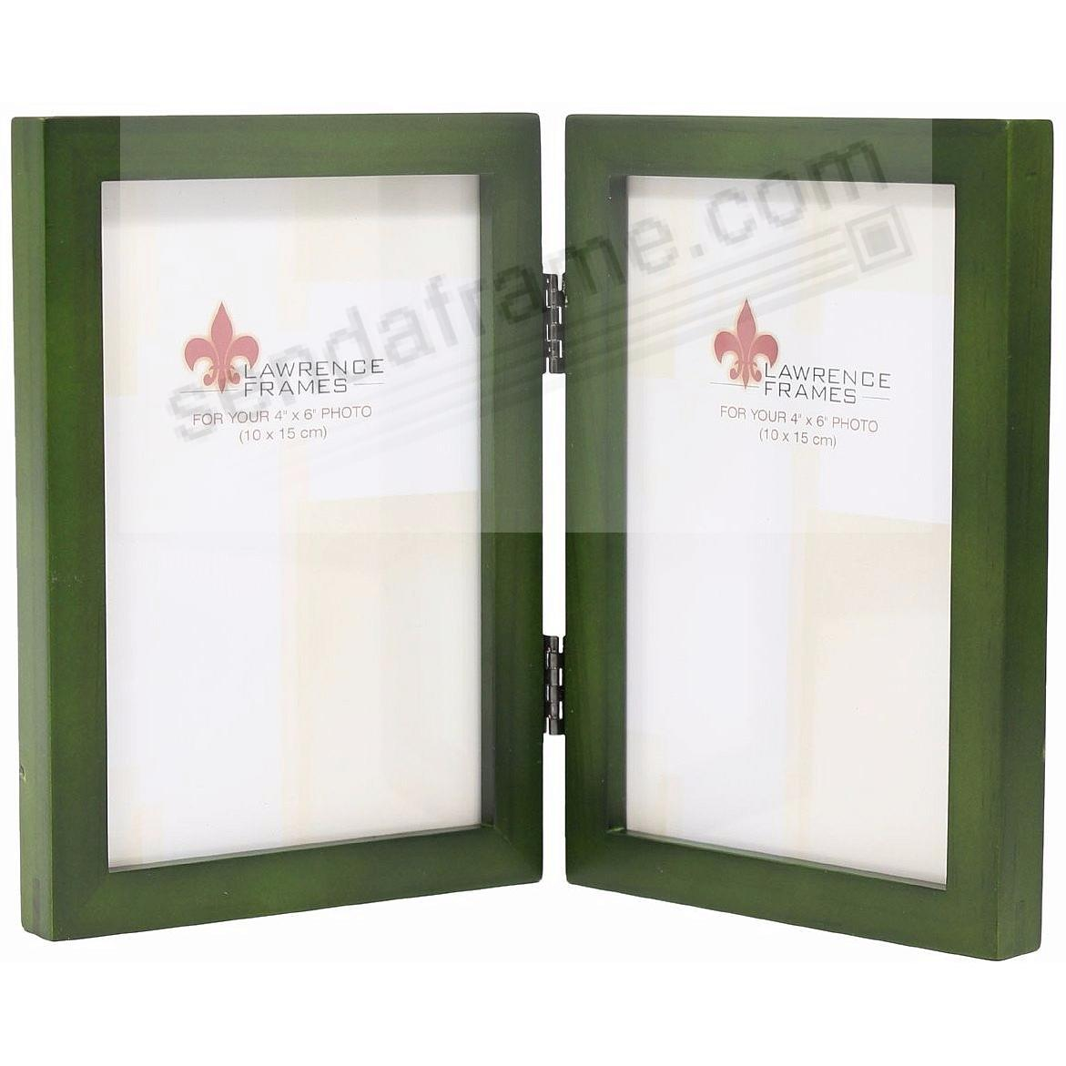 SQUARE CORNER classic Green-Stained Hinged 4x6 by Lawrence Frames®