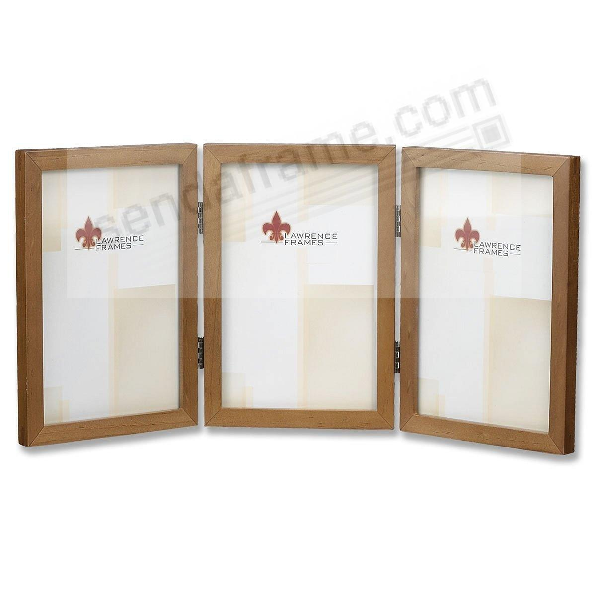 Nutmeg hinged triple in 4x6 size by lawrencer picture for Engraved digital photo frame