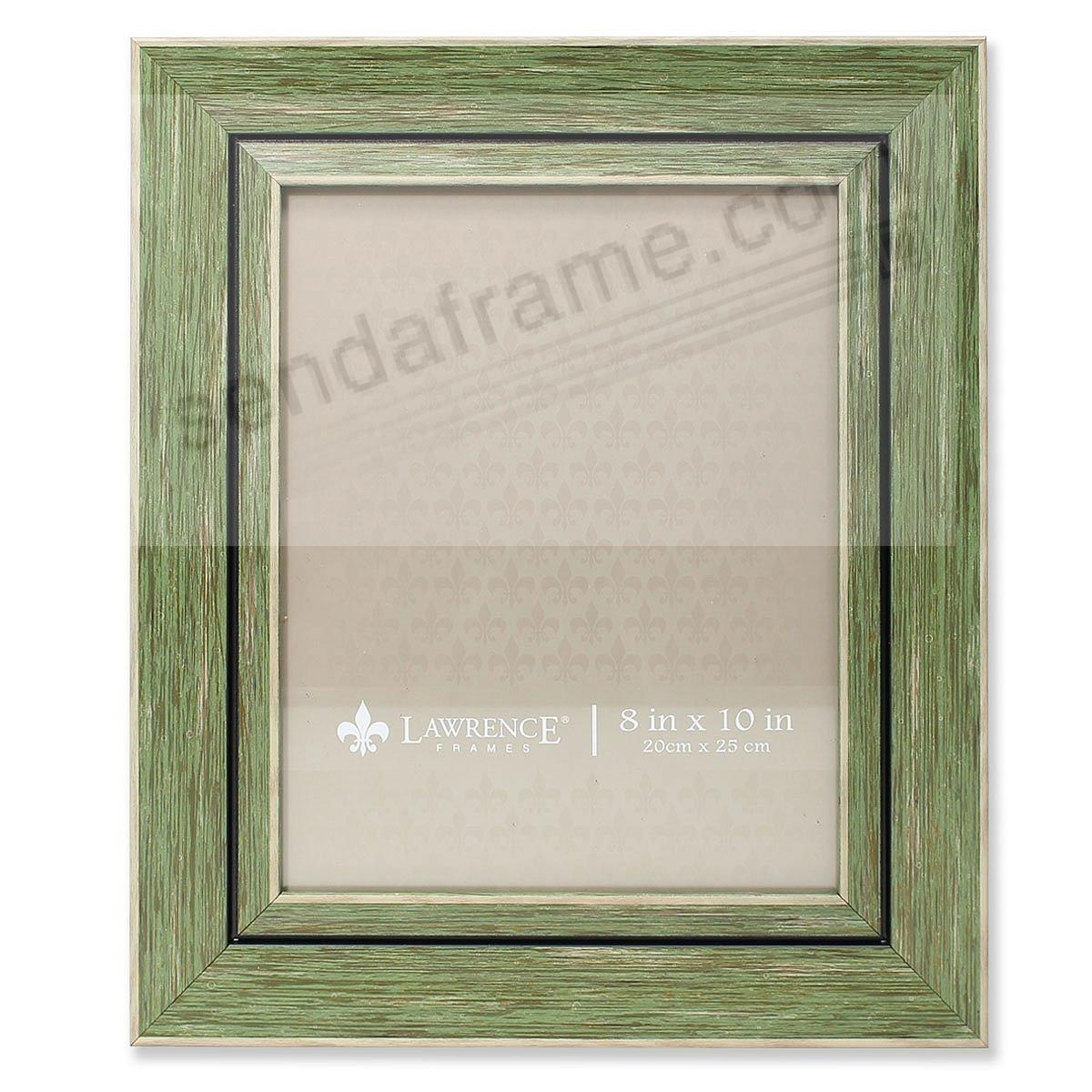 Weathered/Antique Green Angled Wood Frame by Lawrence® - Picture ...